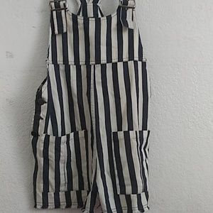 Blue and White Overalls/Playsuit (New)